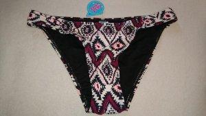 Bikini Hose lila Beere bordeaux Azteken