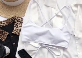 Sheinside Bikini blanco