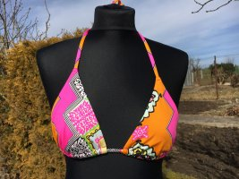 Bikini Oberteil, H&M, Orange-Pink, Größe S, Nagelneu