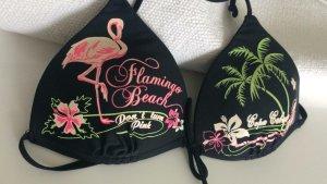 Bikini Schwarz Flamingo Beach Pink Palme Neu