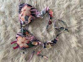 Bikinioberteil mit Blumenmuster