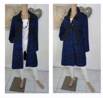 Desigual Cappotto corto nero blu Tessuto misto