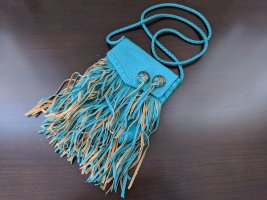Billabong Hippie Teal Fringe Crossbody Mini Boho Southwestern Bag