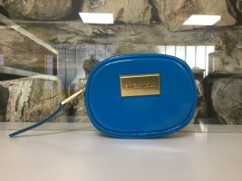 BIMBA Y LOLA Damen Portemonnaie Geldbörse Sehr Klein Blau Glanz Lack  NEU NEU