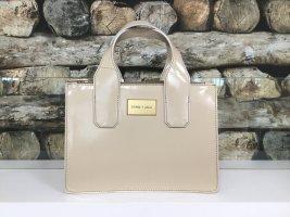 BIMBA Y LOLA Damen Tasche Handtasche Bag Handbag Beige Glanzlack Elegant Hartes Material NEU NEU