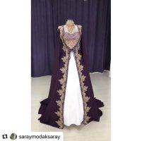 Vestido de novia violeta oscuro