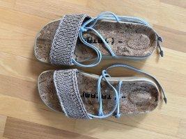 Birkenstock Comfortabele sandalen beige-azuur