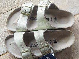 Birkenstock Sandalo comodo bianco sporco-oro Pelle