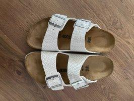 Birkenstock Sandalo comodo bianco-argento