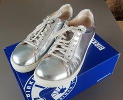 Birkenstock Sneakers met veters zilver
