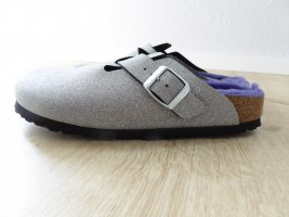 Birkenstock Slip-on Shoes silver-colored-blue violet mixture fibre
