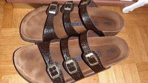 Birkenstock Sandalo comodo marrone scuro