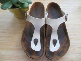 Birkenstock Toe-Post sandals white leather