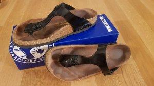 Birkenstock Sandalias de tacón con talón descubierto negro-marrón