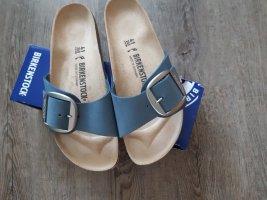 Birkenstock Ciabatta aperta grigio ardesia-blu