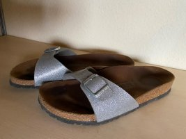 Birkenstock Clog Sandals silver-colored