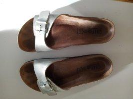 Birkenstock Sandales confort argenté-brun