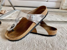 Birkenstock Toe-Post sandals silver-colored-light grey