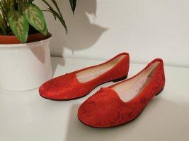 Baleriny Mary Jane czerwony