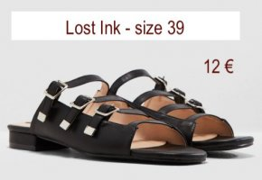 Lost Ink Sandalo outdoor nero