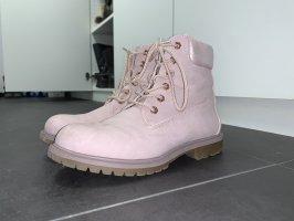 Deichmann Stivale stringato rosa chiaro-rosa antico Finta pelle