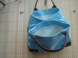 blau Henkeltasche mit 3 Fächern NEU, winziger Fleck auf der Tasche