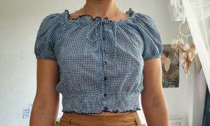 Blau karierte Bluse von Zara