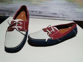 Blau rot weiße Bootsschuhe Slipper - Gant