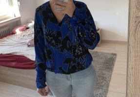 Amisu Bluzka z długim rękawem niebieski-czarny