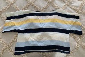 Blau,weiß, gelb gestreiftes luftiges Oberteil von Zara