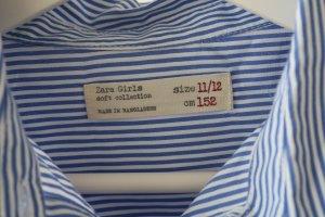 Blau, Weiß gestreifte Bluse