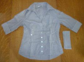 Xanaka Camicia blusa bianco-azzurro