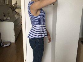 Blau-Weiße Bluse von Zara
