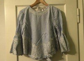Blau weiße Bluse von Zara