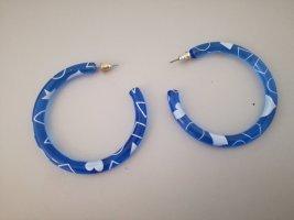 Créoles bleu-blanc