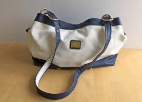 blau-weiße Handtasche von Bodenschatz