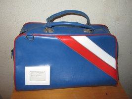 blaue alte Tasche Vintage Retro shabby
