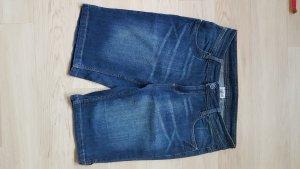 blaue Bermuda Größe 40 Damen Shorts Stretch blau