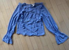 H&M Kreukelblouse korenblauw