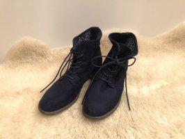 Blaue Boots Schuhe
