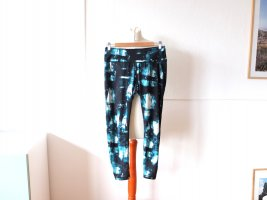 Blaue H&M Batik Sportleggings Gr. M 38 40