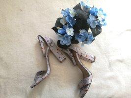 blaue high heels sandale