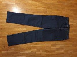 Pantalon cigarette bleu foncé-bleu acier