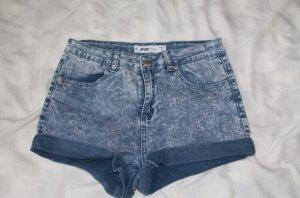Blaue Jeans Shorts für Damen von FB Sister