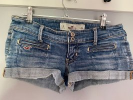Blaue Jeans Shorts / kurze Hose von Hollister, Weite 24