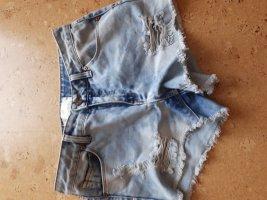 Pieces Pantaloncino di jeans blu pallido
