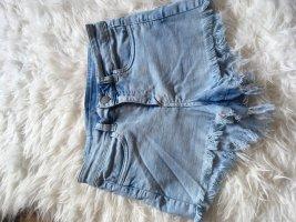 H&M Shorts azzurro-blu acciaio