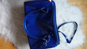 blaue lack Tasche royal königsblau vinyl