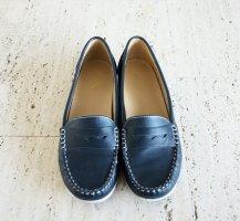Blaue Loafer/Mokassins, Größe 42, keine Gebrauchsspuren