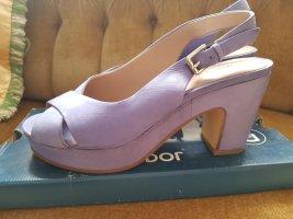 More & More Platform High-Heeled Sandal azure